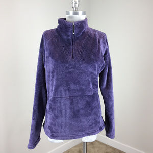 The North Face Women's L Purple Half Zip Fleece